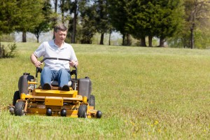 Mowing lawn in Flowery Branch